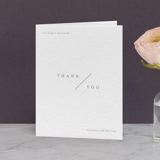 """La Ligne"" - Letterpress Thank You Cards by Jessica Maslyn."