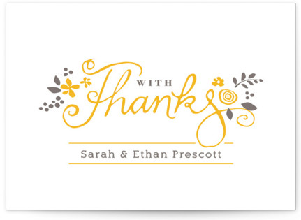 A More Perfect Union Letterpress Thank You Cards