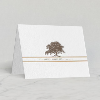 """""""Oak Tree"""" - Rustic Letterpress Thank You Cards in Chocolate by annie clark."""