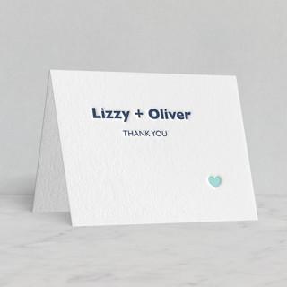 """""""Destination"""" - Letterpress Thank You Cards in Navy by leslie hamer."""