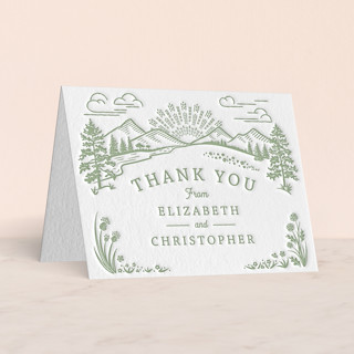 """""""On The Horizon"""" - Letterpress Thank You Cards by Paper Sun Studio."""