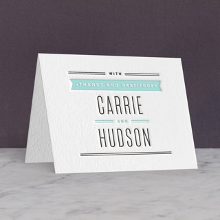 Posted Letterpress Thank You Cards