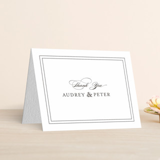"""""""First Impression"""" - Traditional Letterpress Thank You Cards by Kimberly FitzSimons."""