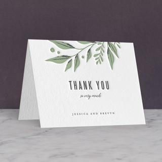 """Laurel Branch"" - Letterpress Thank You Cards by Karidy Walker."
