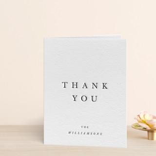 """Johannis"" - Letterpress Thank You Cards by Jack Knoebber."