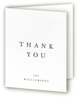 This is a black wedding thank you card by Jack Knoebber called Johannis with letterpress printing on coventry320 in standard.