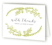 Garden Letterpress Thank You Cards