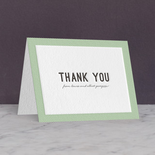 Dot and Cross Letterpress Thank You Cards