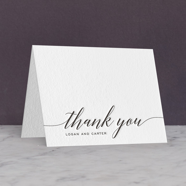 """Someone Like You"" - Letterpress Thank You Cards in Soft Black by Design Lotus."