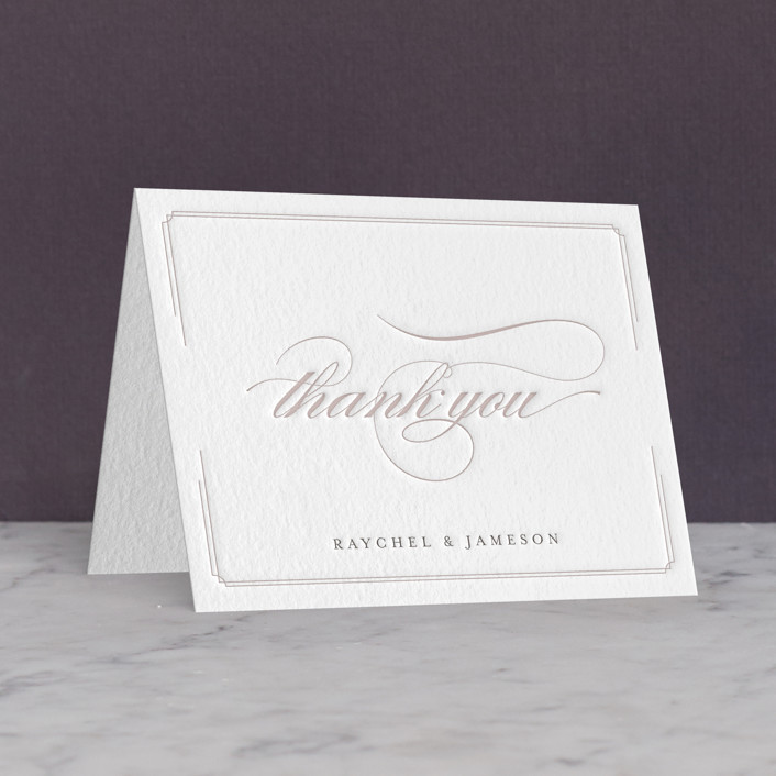 """""""Proper"""" - Letterpress Thank You Cards in Graphite 