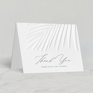 """""""Faded Palm"""" - Letterpress Thank You Cards by Lauren Chism."""