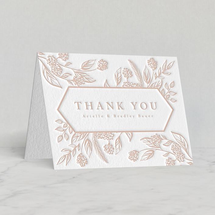 """""""Celebration of Flowers"""" - Letterpress Thank You Cards by Susanne Kasielke."""