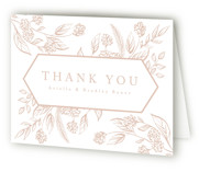 This is a wedding thank you card by Susanne Kasielke called Celebration of Flowers with letterpress printing on coventry320 in standard.