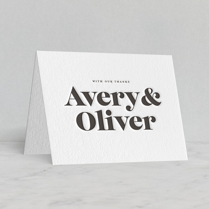 """""""Yours and Mine"""" - Letterpress Thank You Cards by Sandra Picco Design."""