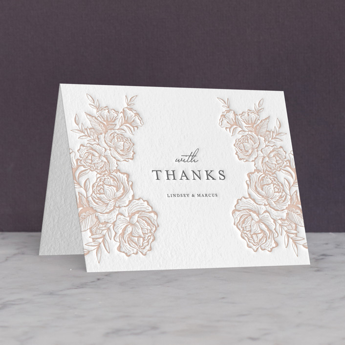 """In Bloom"" - Letterpress Thank You Cards by Jennifer Postorino."