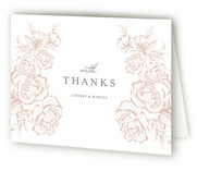 This is a wedding thank you card by Jennifer Postorino called In Bloom with letterpress printing on coventry320 in standard.