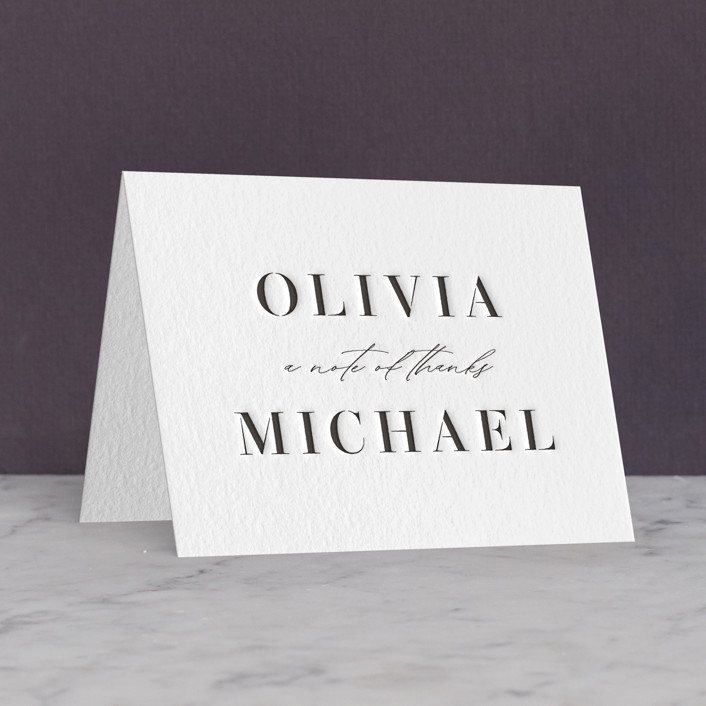 """Elegante"" - Letterpress Thank You Cards by Lauren Chism."