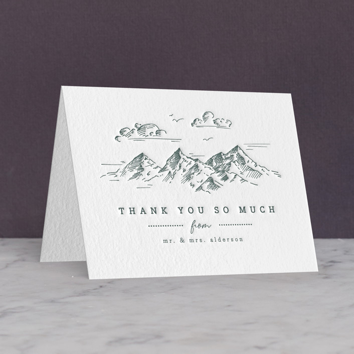 """fresh air"" - Letterpress Thank You Cards by Anastasia Makarova."