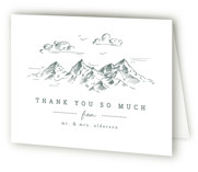 This is a wedding thank you card by Anastasia Makarova called fresh air with letterpress printing on coventry320 in standard.