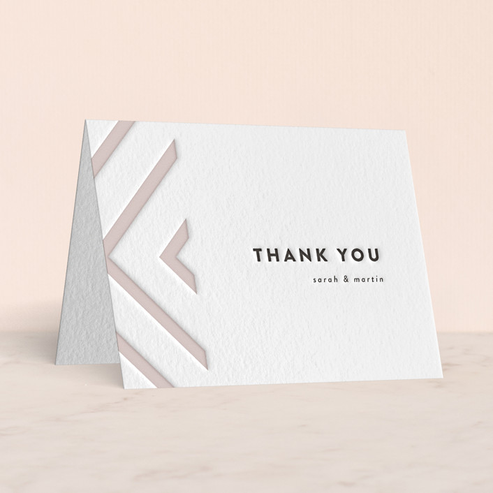 """""""Love is Blind"""" - Letterpress Thank You Cards by Susan Brown."""
