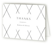 This is a wedding thank you card by Kristie Kern called Farmhouse Union with letterpress printing on coventry320 in standard.