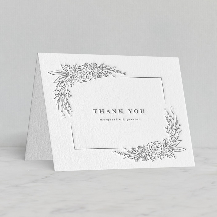 """Franciacorta"" - Letterpress Thank You Cards by chocomocacino."