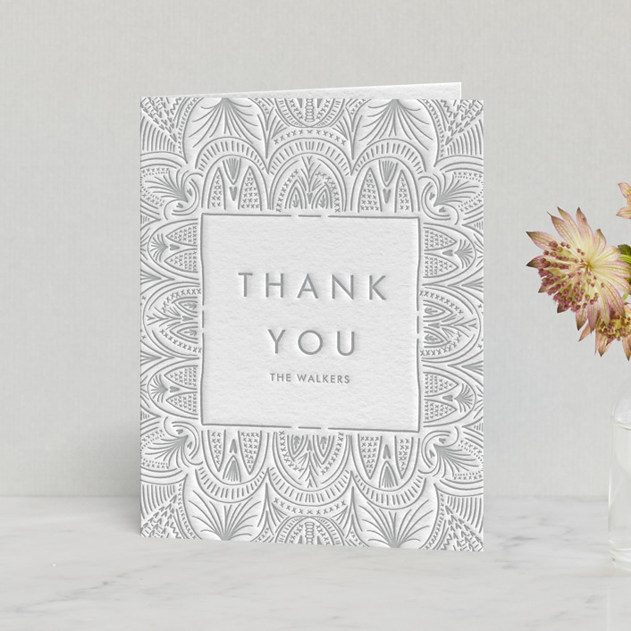 """Santa Fe"" - Letterpress Thank You Cards by Erin L. Wilson."