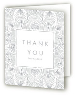 This is a wedding thank you card by Erin L. Wilson called Santa Fe with letterpress printing on coventry320 in standard.