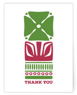 Nordic Green Flower Thank You Card
