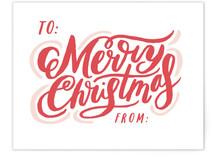 Merry Script Tag Card