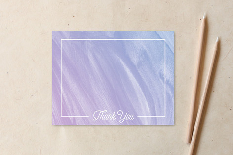 Watercolor Thank You Non-Custom A2 Cards