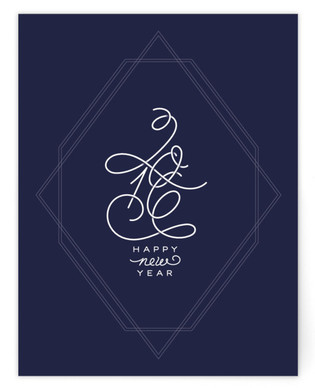 Geo New Year Self Launch A2 Cards