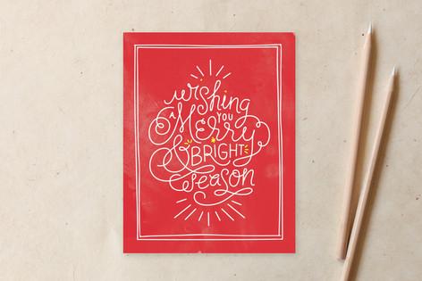 Winter Merry Bright Non-Custom A2 Cards