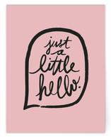 A Little Hello
