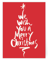 Red Merry Christmas Card