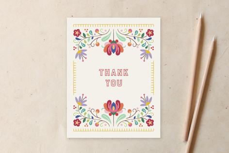 Fiesta Florals Thank You Non-Custom A2 Cards