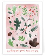 Pink Christmas Botanica... by Megan Kelso