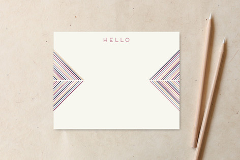 Herringbone Arrows Hello Non-Custom A2 Cards