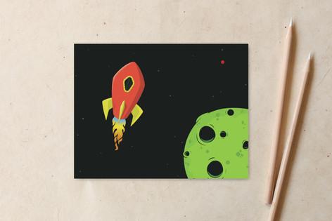 Rocket Ship Non-Custom A2 Cards