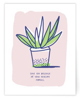 Aloe Pant Love Note by Ariel Rutland