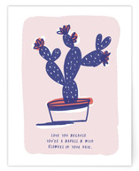 Cactus Love Note by Ariel Rutland