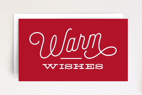 Bold Warm Wishes Mini Cards