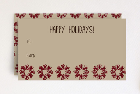 Snowflake Wreaths Gift Tag Mini Cards