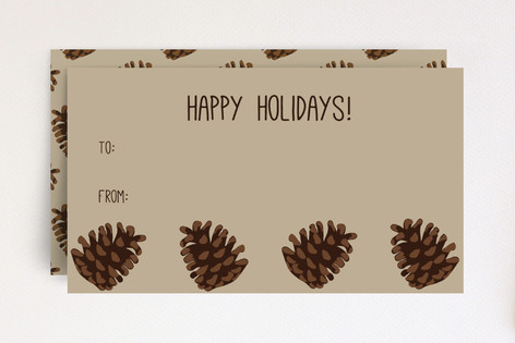 Holiday Pine Cones Gift Tag Mini Cards