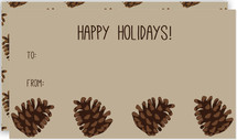 Holiday Pine Cones Gift Tag
