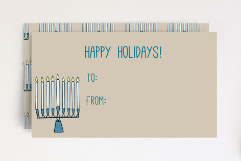 Rustic Menorah Gift Cards Mini Cards