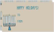 Rustic Menorah Gift Cards