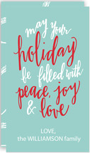 Hand Lettered Peace, Joy & Love