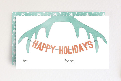 Antler Holiday Mini Cards