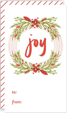 Wreathed Joy Self-Launch Mini Cards